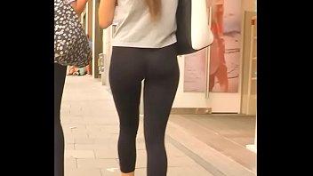 petite girl in tight leggings