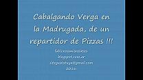 cabalgando la verga del repartidor de pizzas. Fabicross Morena