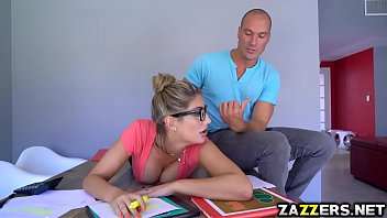 Sean Lawless banging August Ames on top of his cock