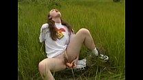 Femke teen Masturbates Outdoors