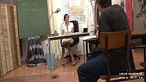 Gorgeous french teacher sodomized and facialized at school