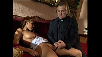 Young blonde l. punished and fucked by pervert priest