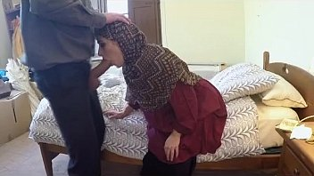Very Reserved Arab Woman In Hood Sucking On A Dick