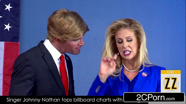Donald Drumpf Shuts Up Hillary Clayton (Cherie Deville) With His Cock