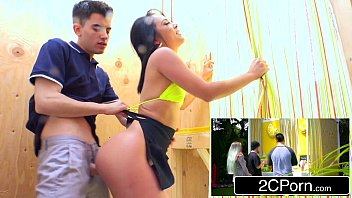 Kristina Rose Puts Her Butt On The Line While Serving Customers Lemonade