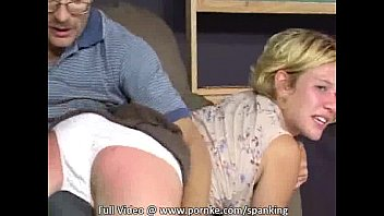 Girl shows man who's boss