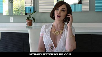MyBabysittersClub - Babysitter (Morgan Lee) Blindfolded & Fucked By Boss