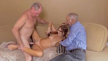 Two Gross Old Men Banging Teen Zara Ryan In A Threesome