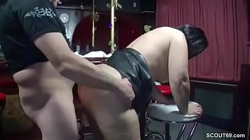 German MILF Seduce to Fuck in Bar by Stranger