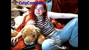 Redhead Camgirl Teasing