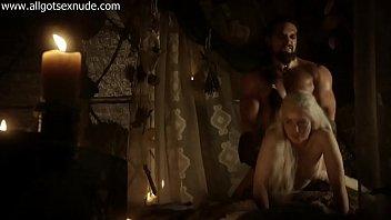 Daenerys Targaryen (Emilia Clarke) in sex and nude scene of Game of Thrones