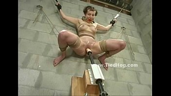 Scared babe in bdsm sex punishment