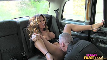 Female Fake Taxi Sexy driver loves a hard cock
