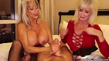 over-Two grannies jerking you off