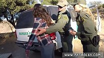 Police group sex xxx Amateur Threesome for Border Slut