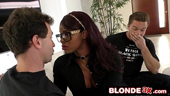 White Delivery Boys Take Turns Using Bored Black Wife's Wet Mouth - Jasmine Webb