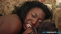 Pussylicked bigbooty ebony takes cum in mouth