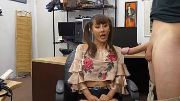 Pig Tailed Asian Beauty Brittany Rain Blowjob In Pawn Shop