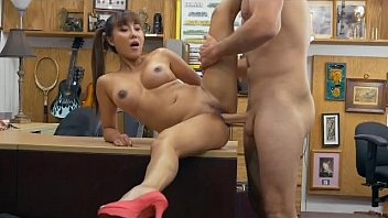 Asian With Pig Tials Brittany Rain Getting Fucked On A Desk