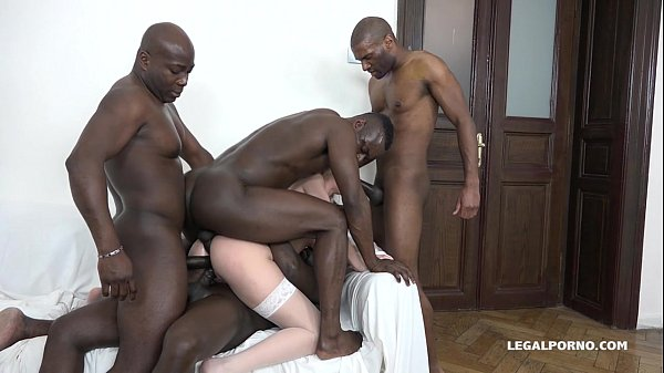 Luna Melba is back to test 4 Big Black Cocks - Does she get what she wants?