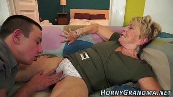 Fuzzy grandma spunked