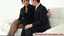 Classy ladyboy pounded in ass