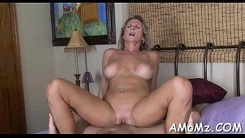 Skillful older impaled on cock