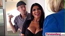 Slut Horny Pornstar (Romi Rain & Melissa May) Love To Ride A Monster Cock On Cam video-27