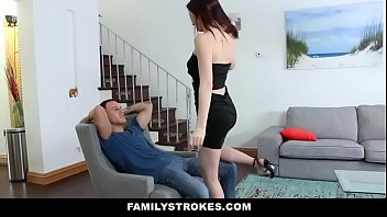 Cute Stepsis Seduces Stepbro With Lapdance