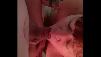 Blowing Daddy while tub fills