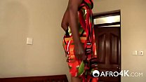 African babe sucks white dick and gets fucked raw on bed
