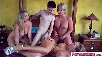 Naughty Pornstar (Julia Ann & Phoenix Marie & Richelle Ryan) Love Hard Long Mamba Cock In He