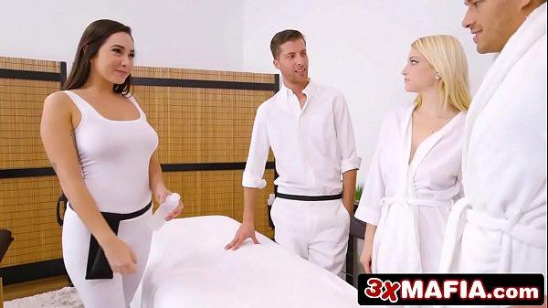 Super Hot Masseuse Feels Naughty and Fucks Married Customer - Karlee Grey 7 min