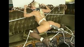 Blonde gets her thighs and ass spanked