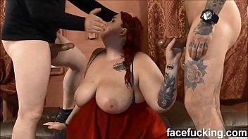 (new) Fat slut Curvy Quinn degraded hard at Face Fucking