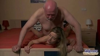 Young Secretary evaluation old man boss fucks beautiful horny young girl