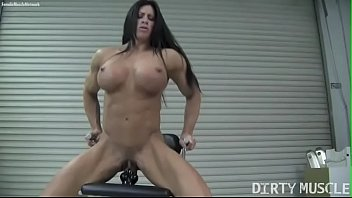 Naked Female Bodybuilder Angela Salvagno Fucks A Dildo