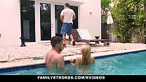 FamilyStrokes - Cute Teen Blonde (Riley Star) Teases StepCousin & StepUncle