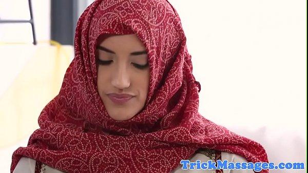 Arab beauty fucked on the massage table