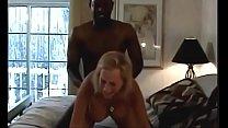 White slut loves his hard bkack cock
