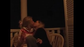 Two teen girls kissng and making out part 2 at wifesharedoncam.com