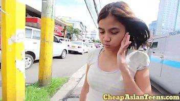 Money talks - Picking up Filipina from a shopping mall - CheapAsianTeens.com