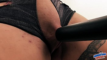 Hot Extreme Babe Vacuums Her Clitoris Pussy Tits and Asshole.