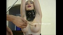 Brunette with black gloves is tied up (Stop jerking off! Visit RealOne24.com)