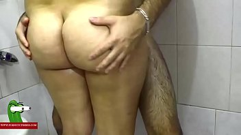 Hard on the shower. MILF caught with a hidden spycam by a voyeur RAF318