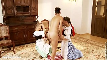 Playful Trio sensual lesbian scene by SapphiX