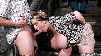 Busty working woman gets fucked by boss