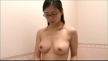 Office lady trying out bra after work