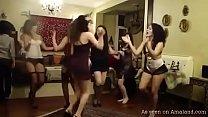 Arabian girlfriends dancing in lingerie