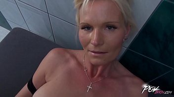Blonde cleaning lady fucked by boss who can be her son